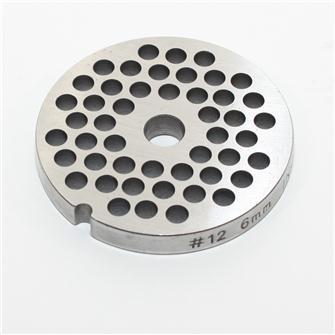Grille inox 6 mm pour hachoir n°12