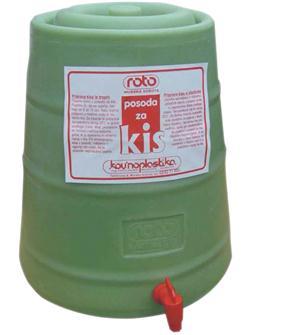 Vinaigrier en plastique de 25 litres