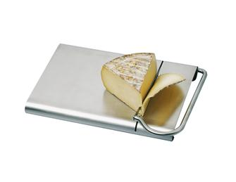Plateau avec lame coupe fromage inox