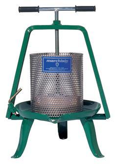 Pressoir à vis 7,5 litres inox
