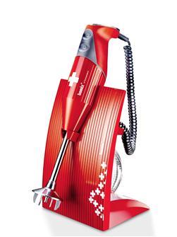 Mixeur plongeur Bamix Swissline 200 W rouge croix Suisse
