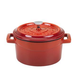 Mini cocotte 10 cm rouge en fonte