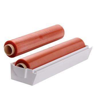 Dévidoir ABS avec 2 bobines de film étirable de 45 cm x 500 m.