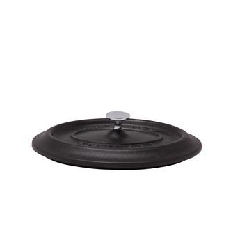 Couvercle ovale noir mat en fonte
