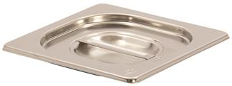 Couvercle inox avec joint silicone pour bac gastro GN 1/6