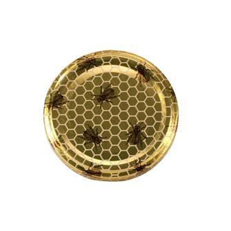 Capsules Twist-off miel abeille 63 mm par 10