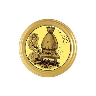 Capsules Twist-off miel ruche paille 82 mm par 10
