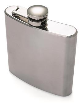 Flasque à alcool de poche inox de 175 ml