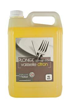 Plonge concentrée dégraissante 5 kg parfum citron