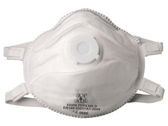 Masque de protection respiratoire à soupape FFP3 x5 filtration élevée particules fines et aérosols