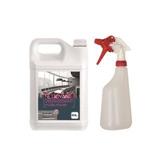 Détachant super nettoyant pour surfaces 5 litres avec pulvérisateur 600 ml