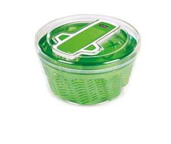 Essoreuse à salade 26 cm verte et transparente