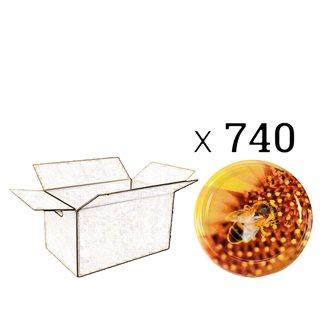 Capsules Twist-off miel Ape sur pollen Diam 82 par 740