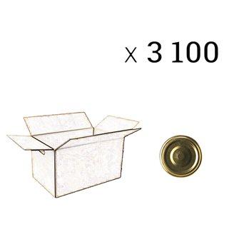 Capsules de diamètre 43 mm par carton de 3100