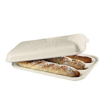 Moule 3 baguettes en céramique blanc Lin Emile Henry