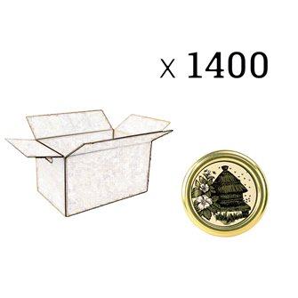 Capsules Twist-off miel ruche Diam 63 par 1400