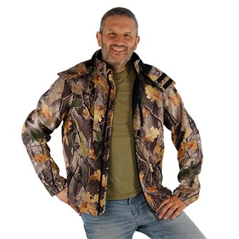 Blouson camouflage feuille homme Bartavel Buffalo camo 3XL softshell