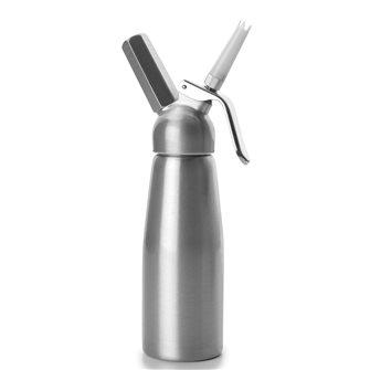 Siphon à crème 0,5 litre laqué en aluminium