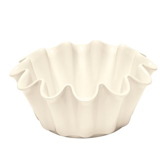 Moule à brioche Corolle céramique blanc Argile Emile Henry