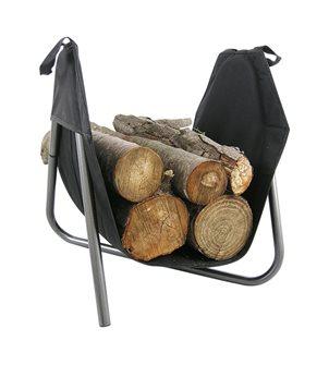 Panier à bûches d´intérieur avec sac amovible sur structure métal