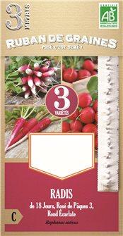 Ruban de radis de 18 jours en mélange présemé