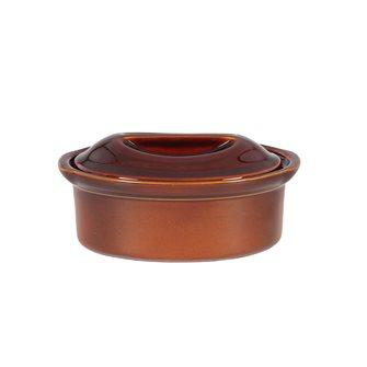 Terrine ovale 23 cm exclusivité Emile Henry 1,1 litre céramique marron Cannelle
