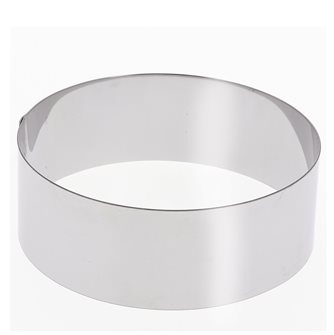 Cercle inox 28 cm haut 6 cm pour vacherin et autres pâtisseries