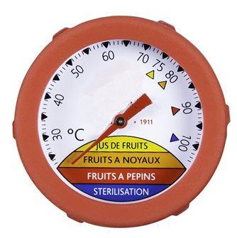 Thermomètre plongeur à tige 25 cm avec cadran et joint silicone