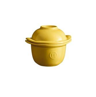 Mini-cocotte et coquetier pour la cuisson de l´œuf et le service avec accompagnement e céramique jaune Provence Emile Henry (Copie)